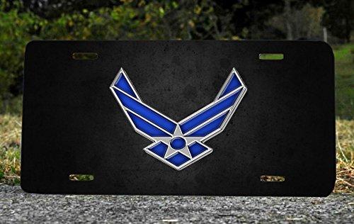 Patriotic Air Force Metal Vanity License Plate Military Veterans Gift 6x12
