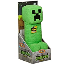 """Minecraft Creeper 15"""" Plush Toy Figure with Sound in Display Box / Official Product From Mojang"""