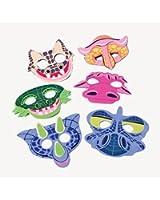 12 foam dinosaur masks