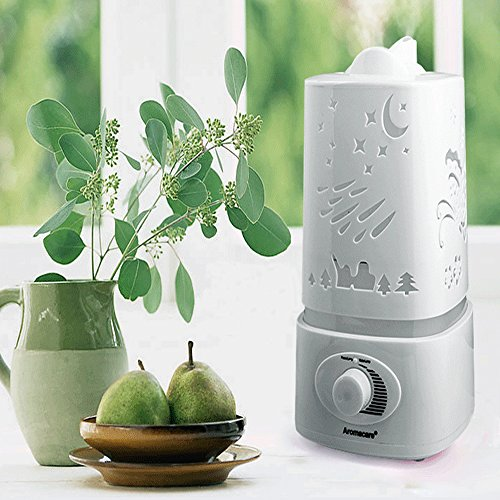 ECVISION Ultrasonic Air Humidifier 1500ML Aroma Essential Oil Diffuser Cool Mist Humidifier,Quiet Operation and 7 auto Color LED Lights Changing for Office Home Bedroom Living Room