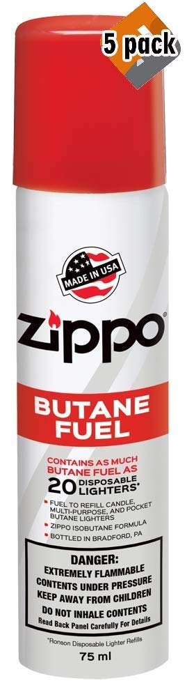 Zippo Butane Fuel, 42 Gram Packaging May Vary. (5 Pack)