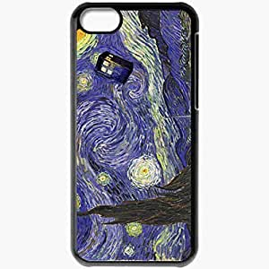 Personalized iPhone 5C Cell phone Case/Cover Skin Starry Night TARDIS Black