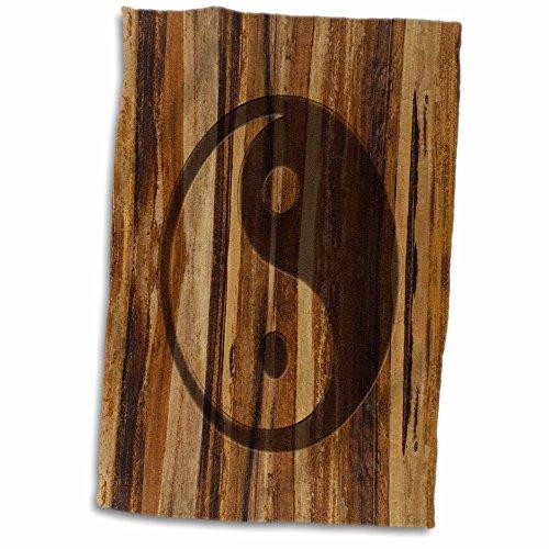 3D Rose Branded Wood Print Ying and Yang Symbol twl_25393...