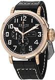 Zenith Pilot Montre D Aeronef Automatic Black Dial Brown Leather Mens Watch 872430405421C721