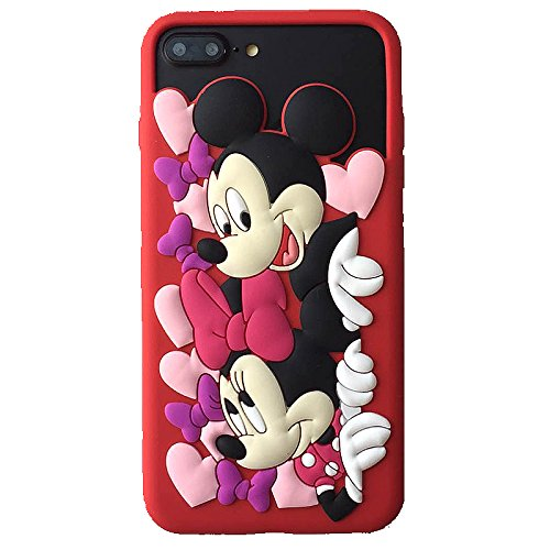 CASESOPHY 3D Cartoon Mickey Minnie Mouse Case for iPhone 6+ 6s+ 7+ 7Plus 5.5