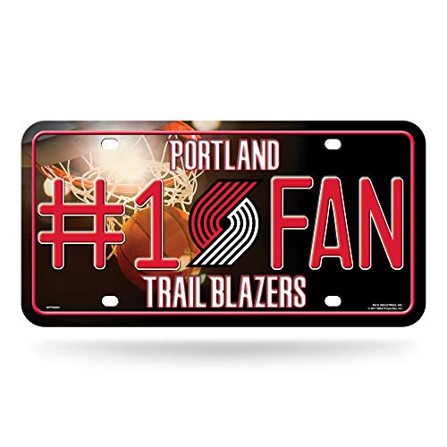 NBA Portland Trail Blazers #1 Fan Metal License Plate Tag