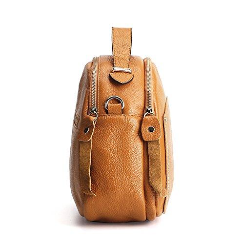 Sac Sac à portés épaule femme Sac portés E main LF fashion Marron main Girl Sac en bandoulière cuir 2003 tSwIq