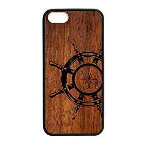 Canting_Good,wood, Custom Case for iPhone 5,5S TPU (Laser Technology)