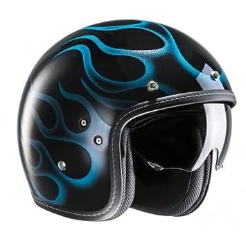 HJC FG-70S Aries MC2 casco para Moto, Color Negro/Azul, talla