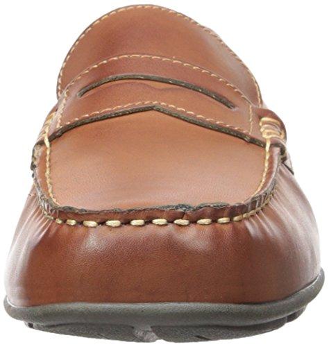Tommy Hilfiger Mens Davey Mocassino Slip-on, Cognac, 7,5 M Us