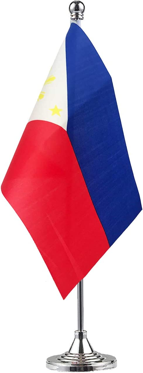 GentleGirl.USA Philippines Flag Filipino Flag Table Flag,Desk Flag,Office Flag,International World Country Flags Banners,Festival Events Celebration,Office Decoration,Desk,Home Decoration