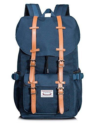 Waterproof Travel Backpack Casual Hiking Outdoor Camping School Bag Daypack Dark Blue [並行輸入品]   B078B1Y9VH