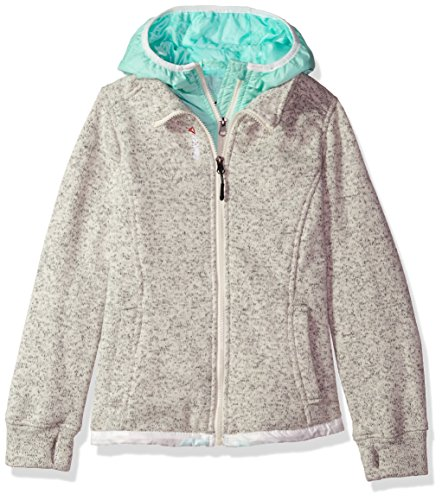 Cream Fleece Jacket - Reebok Girls' Active Outerwear Jacket,Sweater Fleece Cream/Mint,7/8