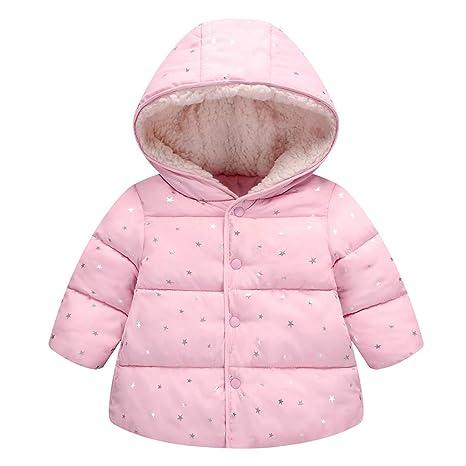 Nouveaux produits grande collection info pour Enfants Bébé Fille Veste Matelassée Coton Manteau Parka Hiver Rembourrée  Manteau de Neige Vêtements d'extérieur