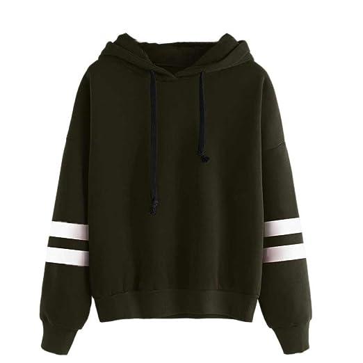 8019d6a3bf VANSOON Sweatshirts for Women Ladies Cute Hoodies Plus Size Long Sleeve  Pullover Blouse Shirt Crop Top
