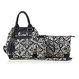 Isoki Bucket Diaper Bag Princess, Black/Cream