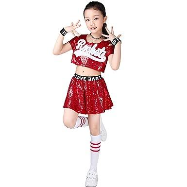 5938ce3df2fc Amazon.com: LOLANTA Girls Sequins Jazz Dance Costume Hip Hop Modern  Performance Dance Outfits: Clothing