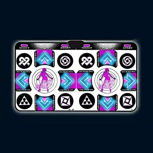 ダンスマットイルミネーションダンス毛布ダブルコンピューターデュアル使用の高精細無線体性感覚ゲームダンスマシーンダンスマット 子供用ダンスマット