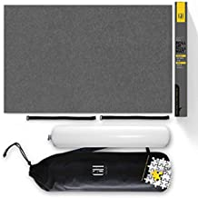 Large Premium WOOL felt Puzzle mat. Beautiful higher quality felt lays flat with no creases for your enjoyment. This Jigsaw Puzzle Mat roll up storage will fit 500 1000 1500 2000 pieces. 48 x 30 in