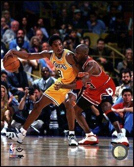Michael Jordan & Kobe Bryant 1998 Action Art Poster PRINT Unknown 8x10