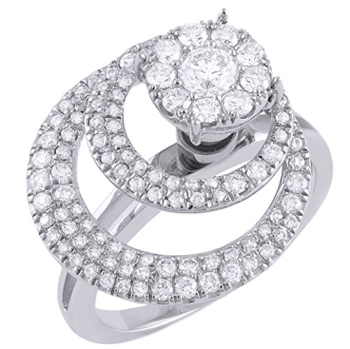 Spinning Diamond Wedding Band Ring - Olivia Paris 14k White Gold Diamond Spinning Ring (1.00 Cttw, H-I Color, SI1-SI2 Clarity) Size 6.25