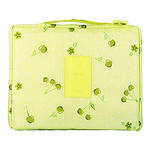 IWin Mall Printed Travel Toiletry Bag Cosmetic Makeup Pouch Case Organizer (yellow - Military Mall Road