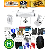DJI Phantom 4 Advanced Drone MEGA Ready To Fly EXTREME ACCESSORY BUNDLE With 1 Battery (Total), Vest Strap, Extra Props, Landing Pad, Filter Kit Plus Much More (Blue Pro II Backpack)