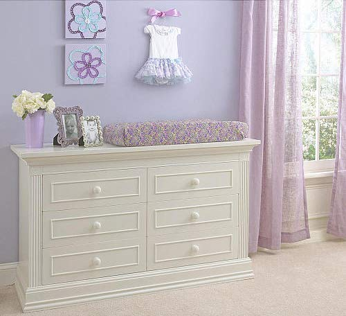 Baby Cache Montana Collection Natural Hardwood 6 Drawer Dresser | Lasting Quality & Design | Kiln-dried & Hand-Crafted Construction | 56'' x 18.5'' x 34'', Glazed White by Baby Cache (Image #4)