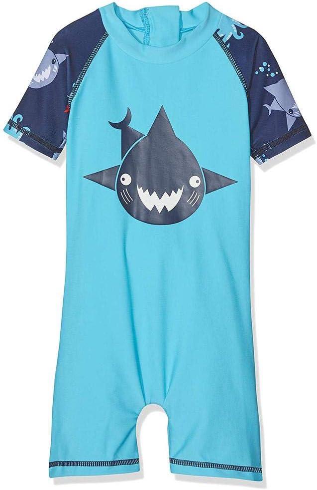 2 anni. Muta Termica Manica corta bambino ANTI-UV Blu Shark
