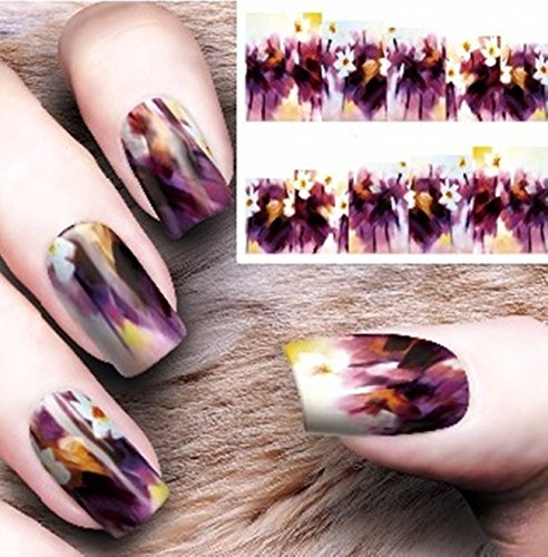 1 Set Gothic Blooming Flower Nail Art Sticker