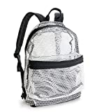 Lightweight Mesh Backpack Swimming Daypack With Removable Zipper Pouch (New White)