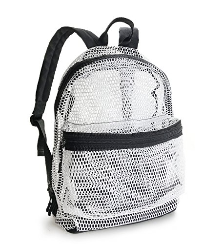 Lightweight Mesh Backpack Swimming Daypack With Removable Zipper Pouch (New White) by Hoxis