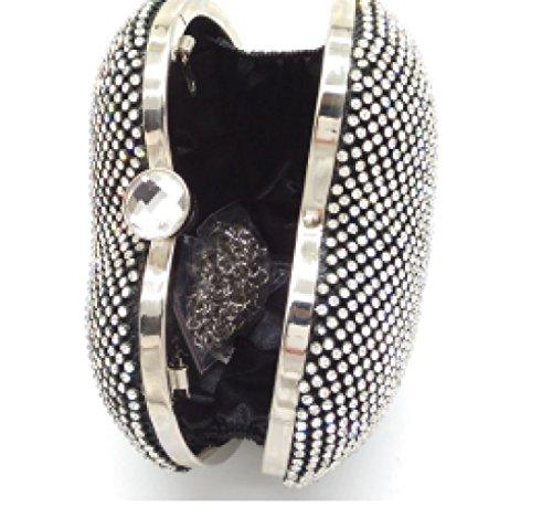 Forme WenL Diamond Europe De Soirée Les De BlackQueen Party Coeur en États Et Sac Bag Unis F6Y6Hdqrw