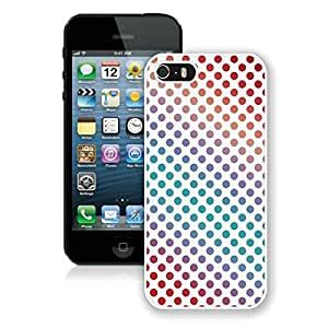 linJUN FENGPersonalized Colorful dots iPhone 5 5S TPU Case 1 White