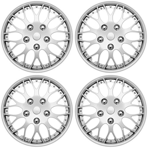 """Cover Trend , Universal Aftermarket, 16"""" Silver/Lacquer Hub"""