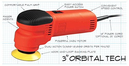 Griot's Garage 10739LNGCRD 25ft 3'' Dual Action Random Orbital Polisher with 25' Cord by Griot's Garage (Image #1)