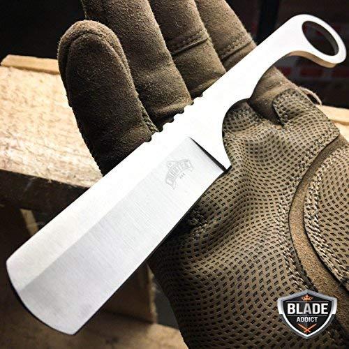 New Straight Edge Razor Fixed Blade Damascus Cleaver TANTO Hunting iCareYou Knife Karambit