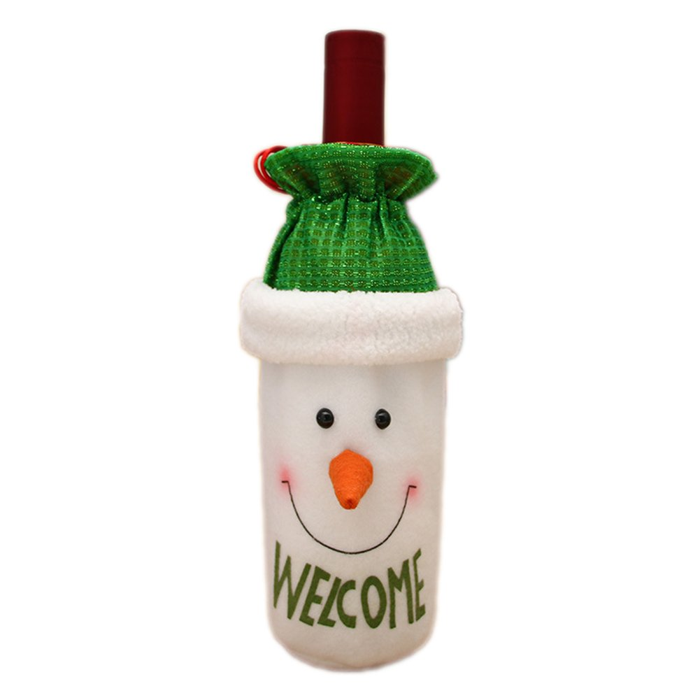 MoGist Christmas Wine Bottle Cover Bags Christmas Table Dinner Decoration Home Party Decors