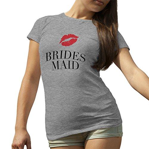 Bridesmaid Black Red Posh T-Shirt camiseta para la Mujer Gris