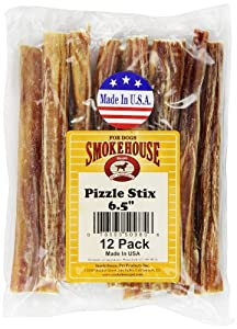 Smokehouse Pizzle Stixs Dog Treats, 12-Pack