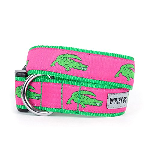 Dog Collar: Worthy Dog Alligators Dog Collar, Small - Alligator Collar