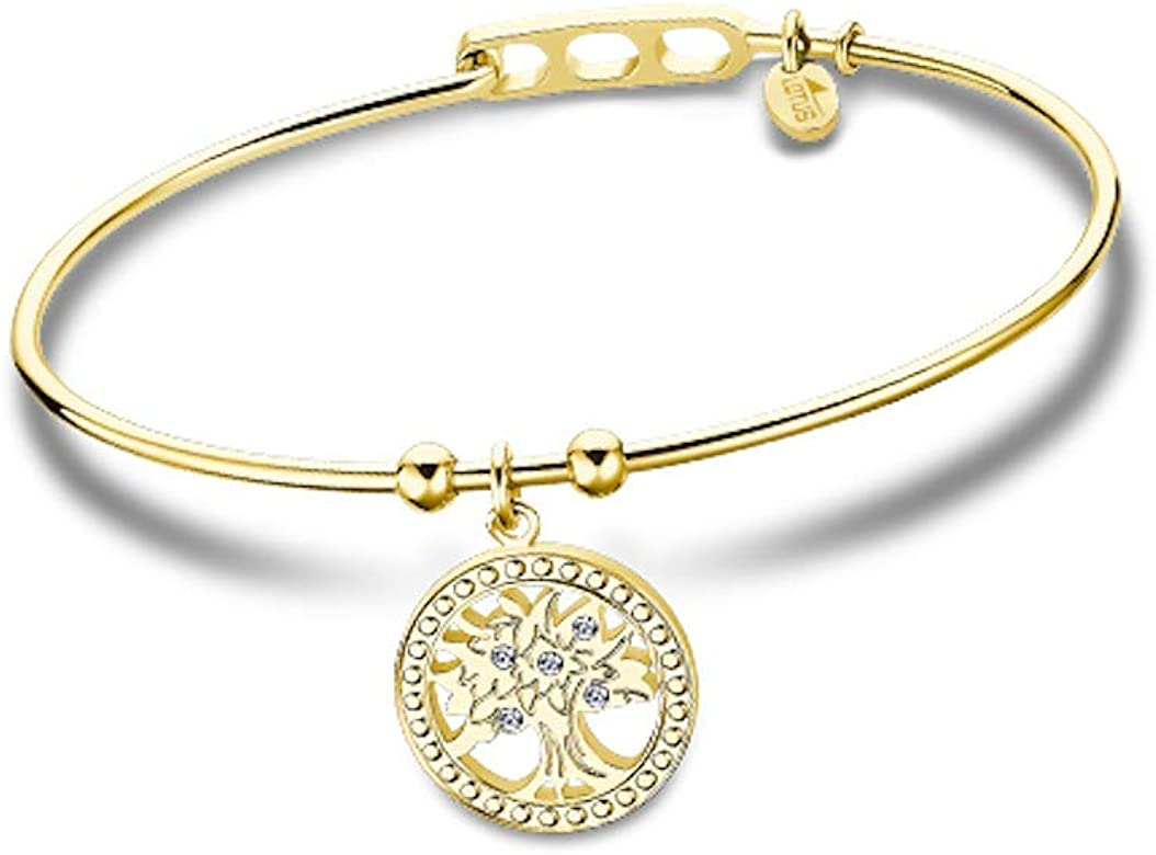 Lotus Style Pulsera ÁRBOL DE LA Vida para Mujer (Dorado): Amazon ...
