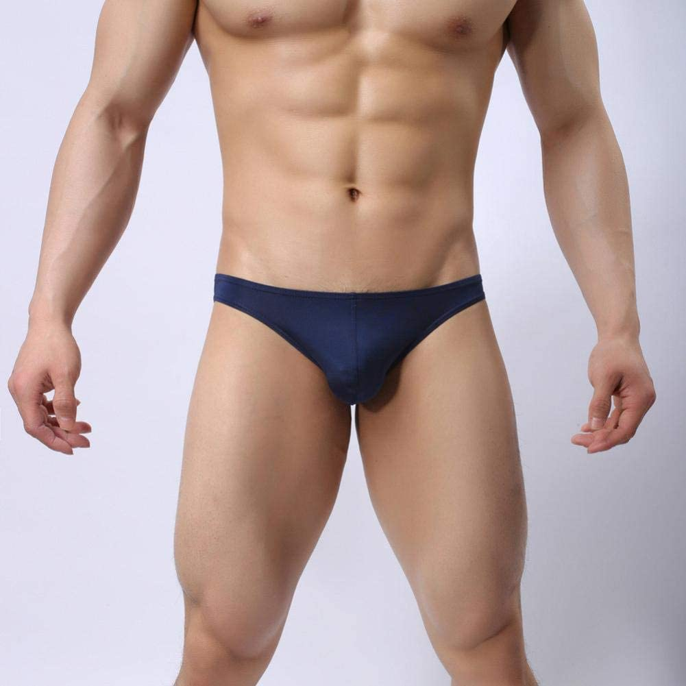 BHYDRY Fashion Mens Thongs Shorts Soft Underwear Bulge Pouch Thin Underpants Solid Color Briefs