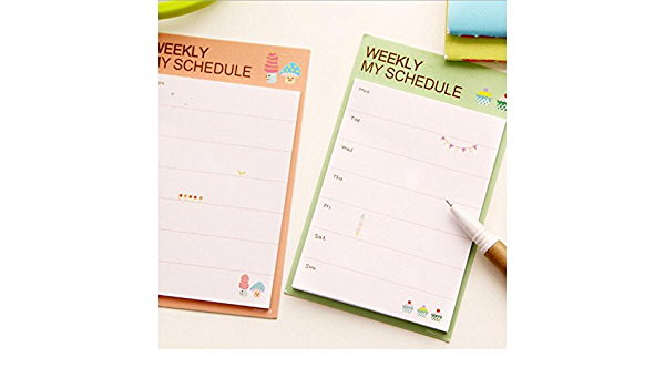 Wodwad 8pcs Memo Pad Sticky Notes Sticker Schedule Planner Student School Stationery