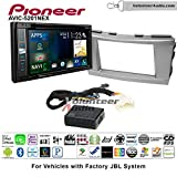 Pioneer AVIC-5201NEX Double Din Radio Install Kit with Navigation Apple Carplay Bluetooth Fits 2007-2011 Toyota Camry with Amplified System (Silver)