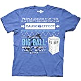 Doctor Who Wibbly Wobbly Quote T-shirt (Large, Heather Royal)