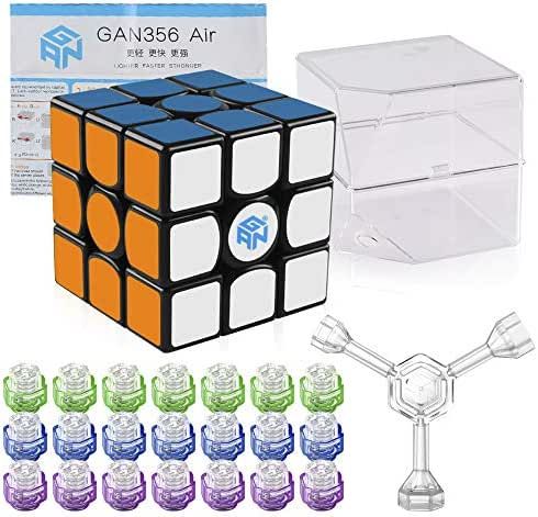 Coogam Gan 356 Air Master Speed Cube 3x3 Black Gans 356 Air Puzzle Cube with IPG V5 (Master Version)