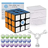 Coogam Gan 356 Air Master Speed Cube 3x3 Black Gans 356 Air Puzzle Cube with IPG V5