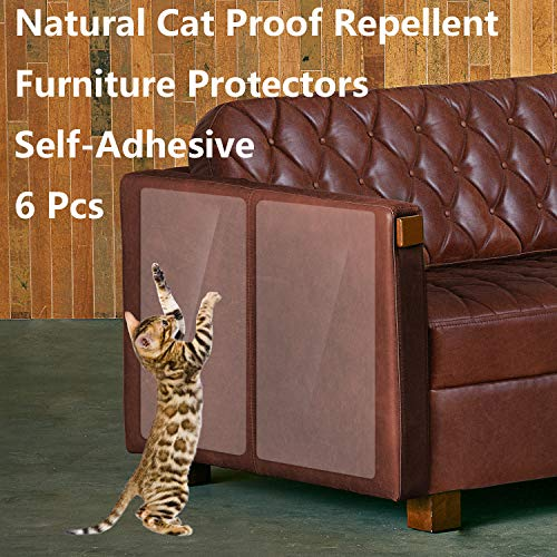 ROLIAT Anti-Scratch Furniture Protectors(Set of 6), Protect Your Furniture from Dog/Cat Claws, Cat Scratch Deterrent Pad, Cat-Proof Couch Guard, Door Shield