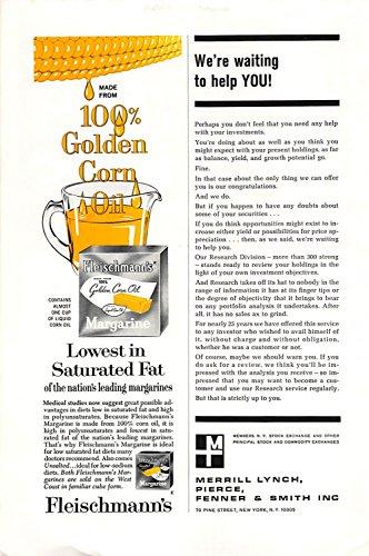 Print Ad 1965 Fleischmanns Margarine Lowest in Saturated Fat - Margarine Fleischmanns